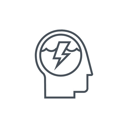 responsive: Brain icon suitable for info graphics, websites and print media and  interfaces. Line vector icon.