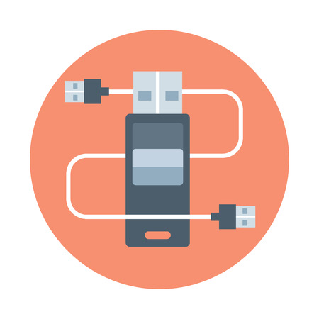 Plug in, flat style, colorful, vector icon for info graphics, websites, mobile and print media.