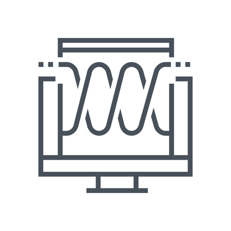Audio Visual icon suitable for info graphics, websites and print media and  interfaces. Line vector icon.