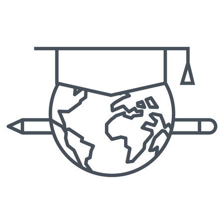 Distance education icon suitable for info graphics, websites and print media and  interfaces. Line vector icon.