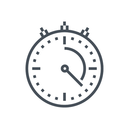 count down: Timer icon suitable for info graphics, websites and print media and  interfaces. Line vector icon. Illustration