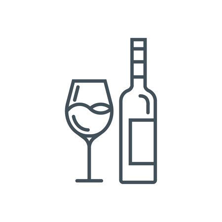 Wine icon suitable for info graphics, websites and print media. Vector icon.