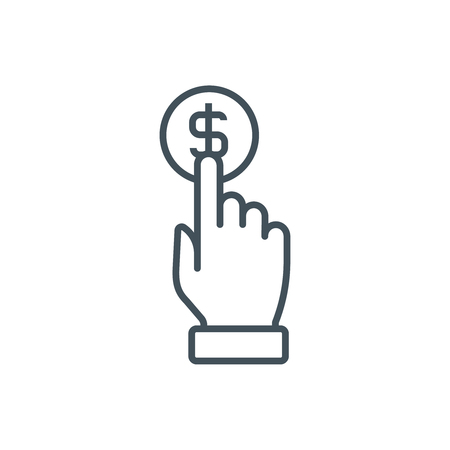 Pay per click icon suitable for info graphics, websites and print media and  interfaces. Line vector icon.