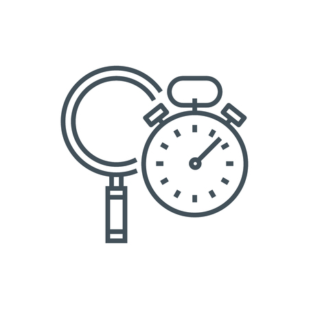high speed: Search engine optimization performance icon suitable for info graphics, websites and print media and  interfaces. Line vector icon.