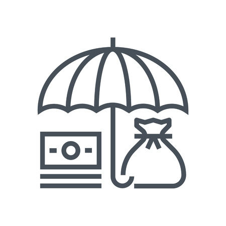 Umbrella, insurance icon suitable for info graphics, websites and print media and  interfaces. Line vector icon.