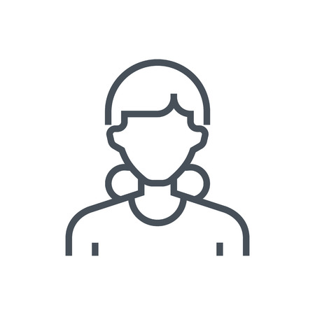 Employee, office person avatar icon suitable for info graphics, websites and print media and  interfaces. Line vector icon. 向量圖像