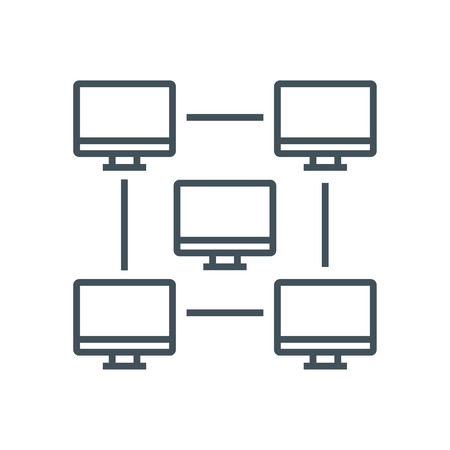 Network icon suitable for info graphics, websites and print media and  interfaces. Line vector icon.