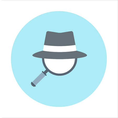 spy ware: Spy ware theme, flat style, colorful, vector icon for info graphics, websites, mobile and print media. Illustration
