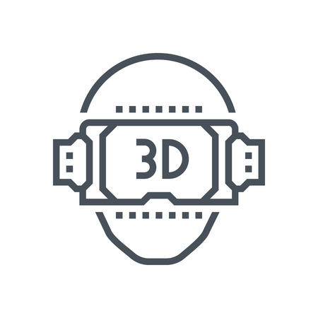 Virtual reality icon suitable for info graphics, websites and print media and  interfaces. Line vector icon.