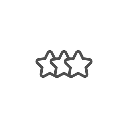 five star: Star, rating icon suitable for info graphics, websites and print media and  interfaces. Line vector icon.