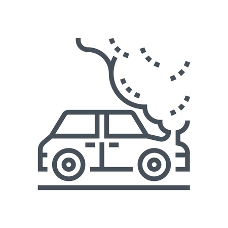 general insurance: Car, transport insurance icon suitable for info graphics, websites and print media and  interfaces. Line vector icon.