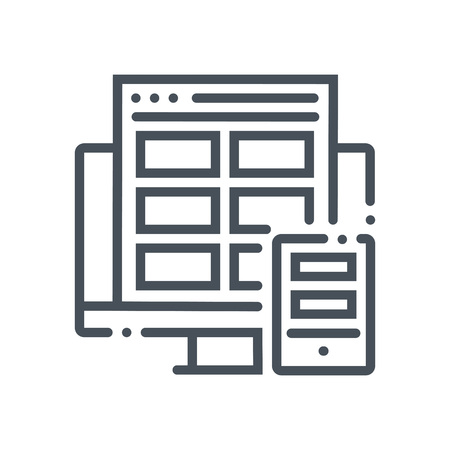 adaptive: Responsive, adaptive icon suitable for info graphics, websites and print media and  interfaces. Hand drawn style, pixel perfect line vector icon.