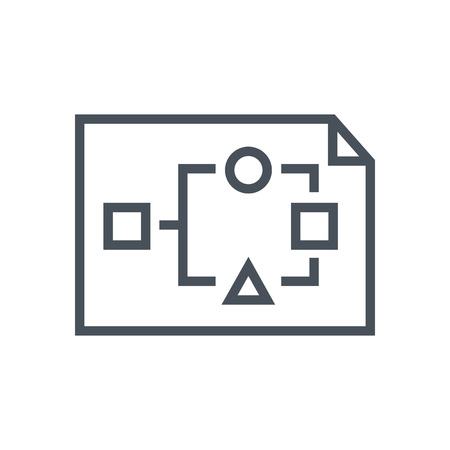Organization, data sheet icon suitable for info graphics, websites and print media. Vector icon. 向量圖像