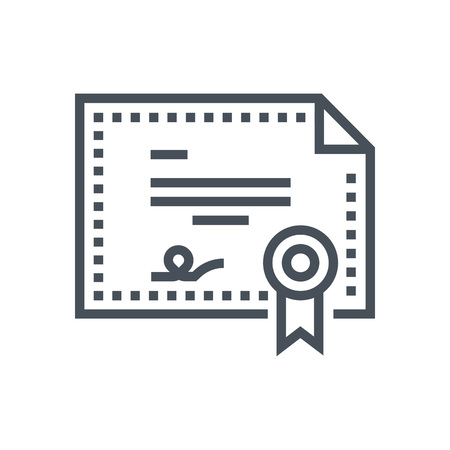 licensing: License icon suitable for info graphics, websites and print media and  interfaces. Line vector icon. Illustration
