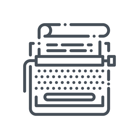 copy writing: Copy writing icon suitable for info graphics, websites and print media and  interfaces. Hand drawn style, pixel perfect line vector icon.
