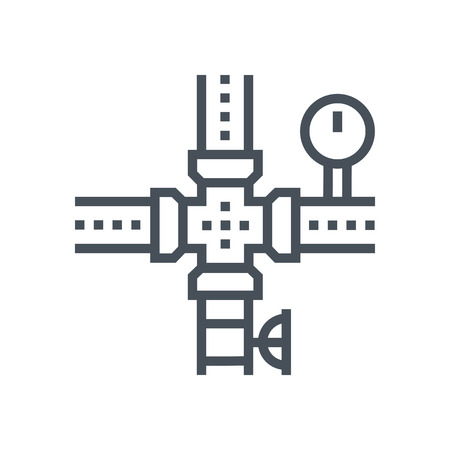 Gas pipeline icon suitable for info graphics, websites and print media and  interfaces. Line vector icon. 向量圖像