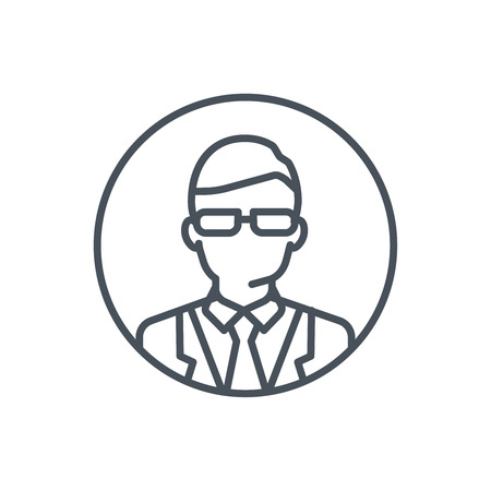 Professor icon suitable for info graphics, websites and print media and  interfaces. Line vector icon.
