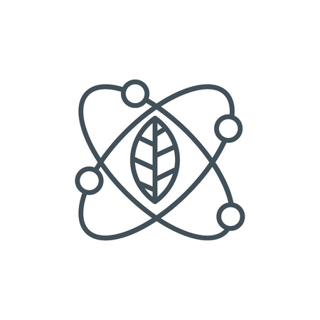 agriculture icon: Green energy research icon suitable for info graphics, websites and print media and  interfaces. Line vector icon.