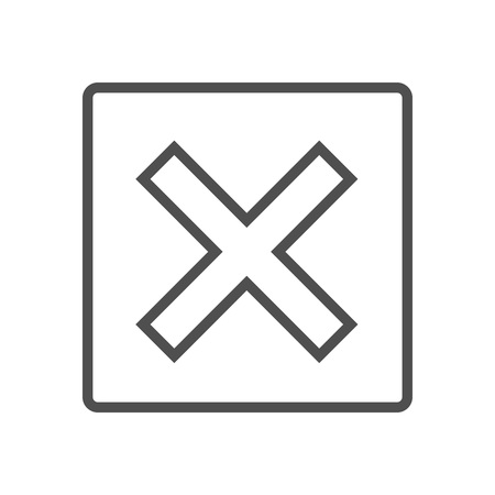 reject: Un confirmed icon suitable for info graphics, websites and print media and  interfaces. Line vector icon.