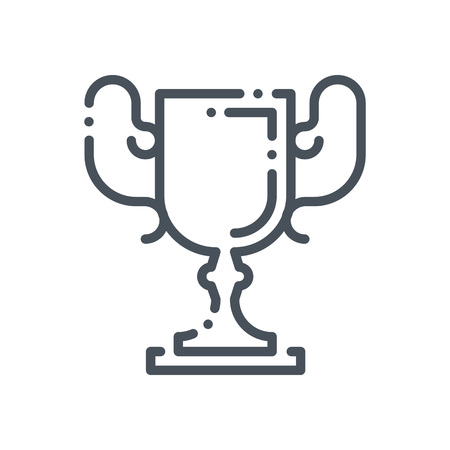 Cup, trophy icon suitable for info graphics, websites and print media and  interfaces. Hand drawn style, line, vector icon.