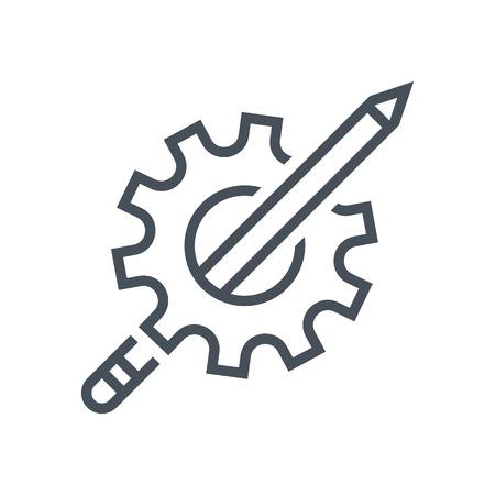 Trainingspictogram geschikt voor infografieken, websites en gedrukte media en interfaces. Lijn vector pictogram.
