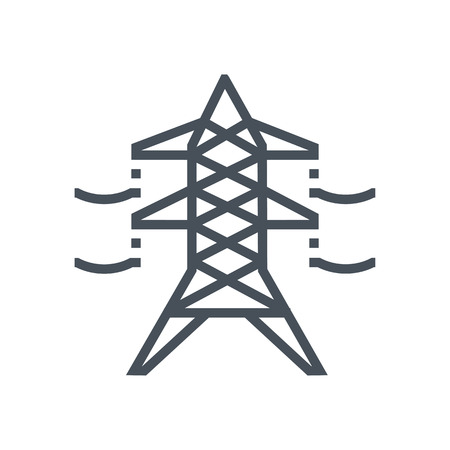 Electricity icon suitable for info graphics, websites and print media and  interfaces. Line vector icon. Illustration