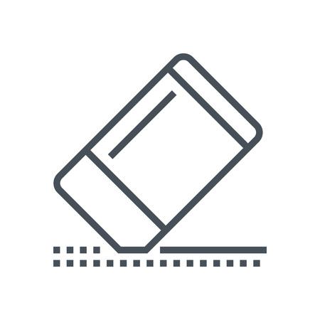 消しゴムのアイコン情報グラフィックス、web サイトや印刷媒体とインタ フェースに最適。行ベクトルのアイコン。  イラスト・ベクター素材