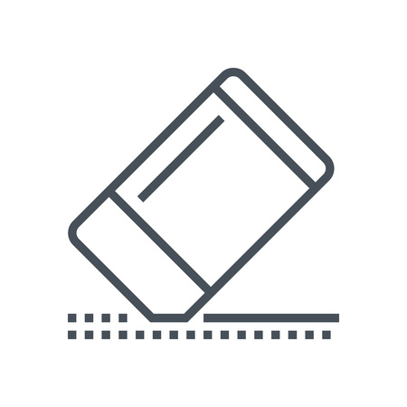 print media: Eraser icon suitable for info graphics, websites and print media and  interfaces. Line vector icon.