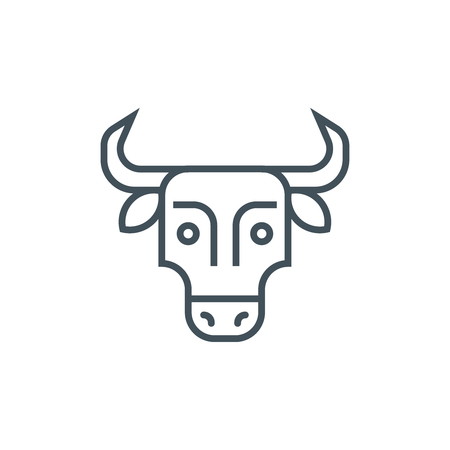 Meat, cow, bull, dairy food icon suitable for info graphics, websites and print media. Vector icon.