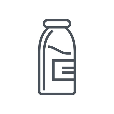 Milk icon suitable for info graphics, websites and print media and  interfaces. Line vector icon.