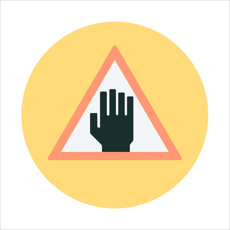 beware: Forbidden area, beware flat style colorful, vector icon for info graphics, websites, mobile and print media. Illustration
