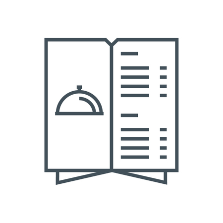 Restaurant menupictogram geschikt voor info graphics, websites en gedrukte media. Vector pictogram.