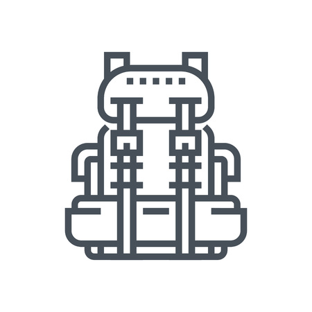 Backpack icon suitable for info graphics, websites and print media and  interfaces. Line vector icon.