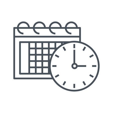 Calendar icon suitable for info graphics, websites and print media and  interfaces. Line vector icon.