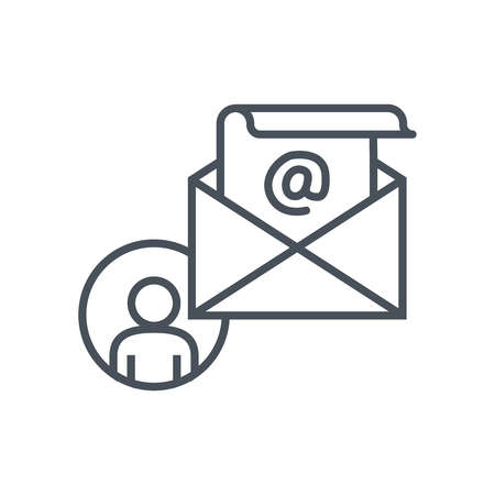 print media: Email icon suitable for info graphics, websites and print media. Colorful vector, flat icon, clip art.