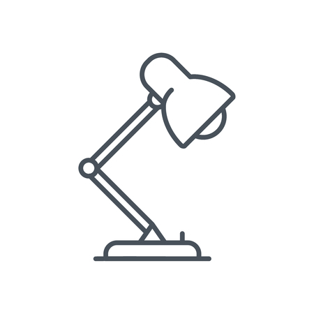 Studio, desktop lamp icon suitable for info graphics, websites and print media and  interfaces. Line vector icon. Illustration