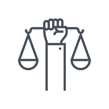 Civil rights icon suitable for info graphics, websites and print media and  interfaces. Line vector icon. Human face, head, line vector icon.