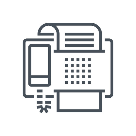 print media: Fax machine icon suitable for info graphics, websites and print media and  interfaces. Line vector icon. Illustration