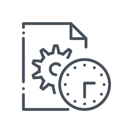 Content management, gears icon suitable for info graphics, websites and print media and  interfaces. Hand drawn style, pixel perfect line vector icon.