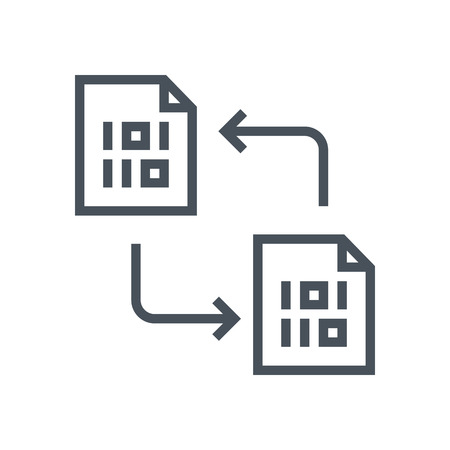 Data exchange, transfer icon suitable for info graphics, websites and print media and  interfaces. Line vector icon.