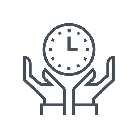 Responsibility, deadline icon suitable for info graphics, websites and print media and  interfaces. Line vector icon. 向量圖像