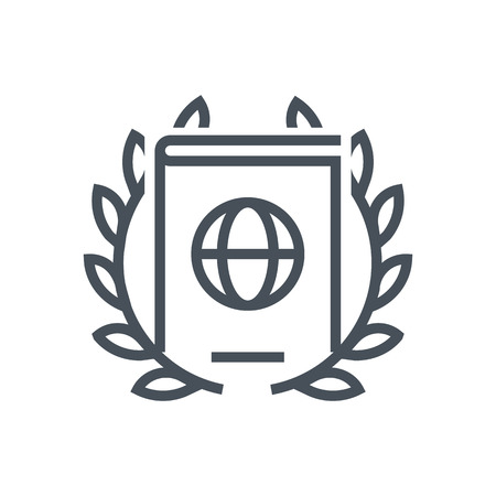 valid: Immigration, passport law icon suitable for info graphics, websites and print media and  interfaces. Line vector icon. Human face, head, line vector icon.