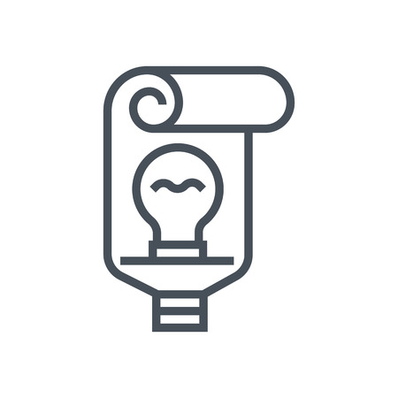 edison: Toothpaste, idea and lamp icon suitable for info graphics, websites and print media and  interfaces. Line vector icon.