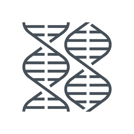 Biology, gene icon suitable for info graphics, websites and print media and  interfaces. Line vector icon.