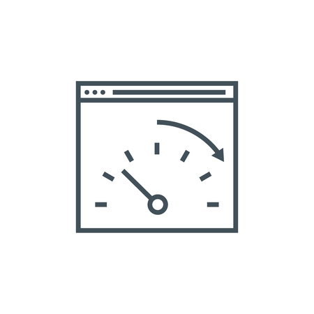 hi speed: Speed optimisation icon suitable for info graphics, websites and print media and  interfaces. Line vector icon.