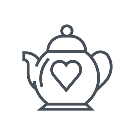Teapot love icon suitable for info graphics, websites and print media. Vector, flat icon, clip art.
