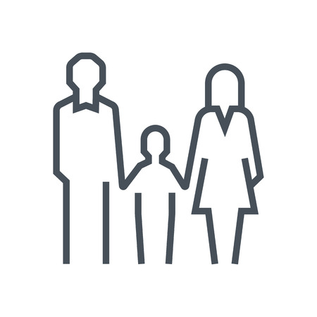 Family law icon suitable for info graphics, websites and print media and  interfaces. Line vector icon. Human face, head, line vector icon.