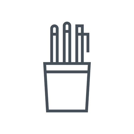 Pen holder icon suitable for info graphics, websites and print media and  interfaces. Line vector icon.