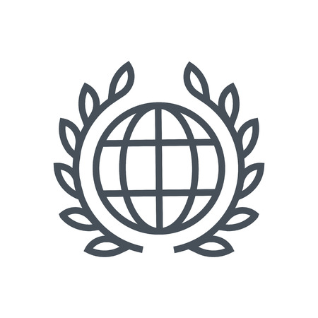 international law: International law icon suitable for info graphics, websites and print media and  interfaces. Line vector icon. Human face, head, line vector icon.