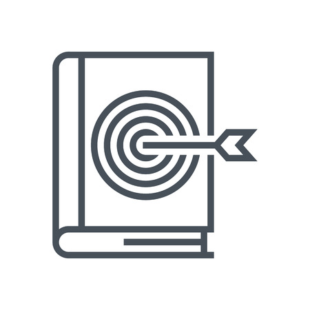 Book, library icon suitable for info graphics, websites and print media and  interfaces. Line vector icon.